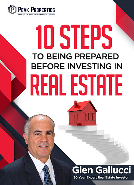 E-book Cover 10 Steps Befofe INvesting in Real estate by Glen Gallucci